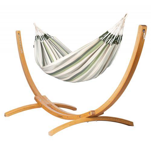 Brisa Cedar - Klasyczny hamak dwuosobowy ze stojakiem wykonany z FSC™-certyfikowanego drewna modrzew