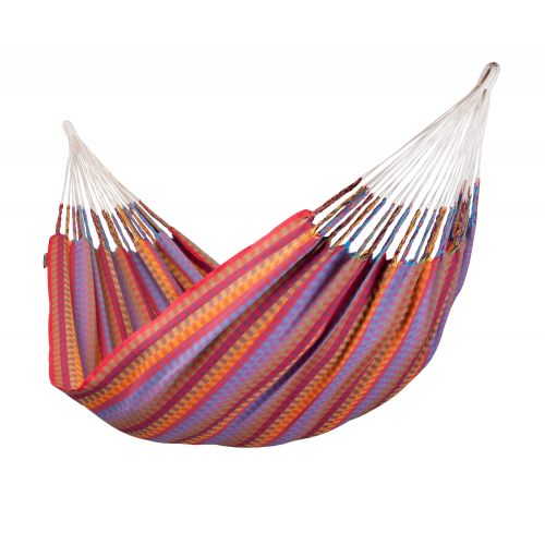 Carolina Flowers - Klasyczny hamak dwuosobowy wykonany z bawełny
