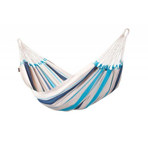 Caribeña Aqua Blue - Klasyczny hamak jednoosobowy wykonany z bawełny