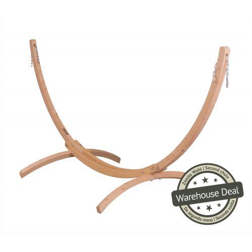 Canoa Caramel - Stojak do hamaków jednoosobowych wykonany z FSC™-certyfikowanego drewna świerkowego