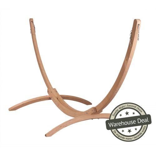 Canoa Caramel - Stojak do hamaków typu Kingsize wykonany z FSC™-certyfikowanego drewna świerkowego