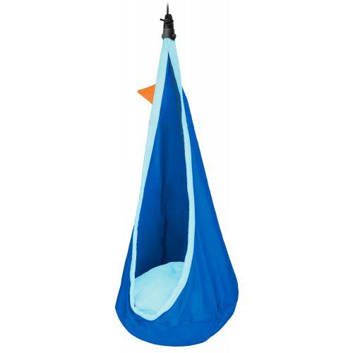 Joki Dolphy - Wiszące siedzisko dla dzieci wykonane z bawełny organicznej z zintegrowanym systemem zawieszenia