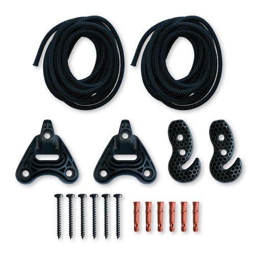 Universal Rope Black - Uniwersalny zestaw montażowy do hamaków
